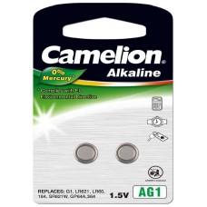 Pila Botón Alcalina LR60 1.5V 0% Mercurio (2 pcs) Camelion (Espera 2 dias)