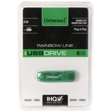 Intenso 3502460 Lápiz USB 2.0 Rainbow 8GB Verde
