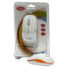 MOUSE OPTICO USB 3FREE MCM101/WO DISENO BLANCO NARANJA