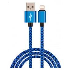 Cable USB a Lightning 8 Pines (Carga y Transferencia) Metal Azul 1m Biwond (Espera 2 dias)