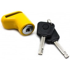 Candado Antirobo Moto Pinza Amarillo con llave con luz (Espera 2 dias)