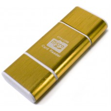 Lector OTG USB y Micro USB Dorado (Espera 2 dias)