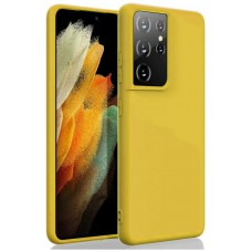 "Funda Samsung Galaxy S21 Ultra 6.8"" Silicona Amarillo (Espera 2 dias)"