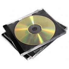 PACK 10 CAJAS CD/DVD JEWEL NEGRO FELLOWES 98310 (Espera 4 dias)