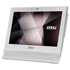 "MSI AIO PRO 16T 10M-002XEU. 15.6"" eDP HD 16:9 (1366 x 768). TACTIL. CELERON 5205U. INTEL UHD GRAPHICS. DDR4 4G. 2 SLOTS (32GB MAX). 256GB SSD. SIN S.O. WEBCAM. T+R. BLANCO (Espera 4 dias)"