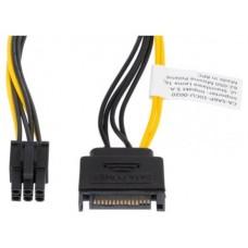 CABLE ALIMENTACION LANBERG SATA MACHO/PCI EXPRESS MACHO 20CM