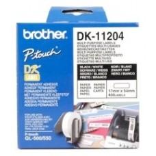 ETIQUETAS BROTHER DK11204 USO MULTIPLE 17X54 400UD (Espera 4 dias)