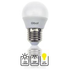 Bombilla LED G45 / 7W / 510LM / E27 / Luz Cálida / ELBAT (Espera 2 dias)