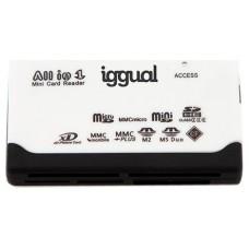 iggual Lector tarjetas 64 en 1 USB 2.0 blanco