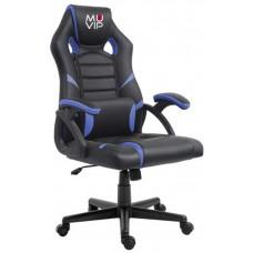 Silla Gaming GM1000 Negro/Azul MUVIP (Espera 2 dias)