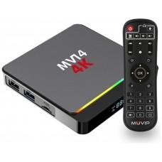 Mini PC Smart TV MV14 4K, Android 10, Quad Core. 4GB RAM, 32GB ROM MUVIP (Espera 2 dias)