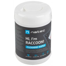 TOALLITAS LIMPIADORAS NATEC RACOON 10X10 CM PACK 100 UDS