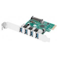 TARJETA PCI EXPRESS LANBERG X1 A 4X USB-A 3,1 GEN1 LOW PROFILE