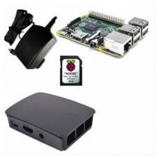 KIT RASPBERRY PI 3 MODELO B / MICROSD 32GB NOOBS / F.ALIM NEGRA / CAJA NEGRA-GRIS (RB-KIT-1021) (Espera 4 dias)