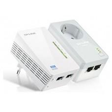 TP-LINK KIT POWERLINE WI-FI AV600, QUALCOMM, 300MBPS EN 2.4GHZ, 600MBPS POWERLINE, HOMEPLUG AV, 2 PUERTOS 10/100MBPS, WI-FI CLONE, TWIN PACK ( 1* TL-PA4020P & 1* (TL-WPA4220) (Espera 4 dias)